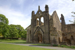 Historic ruins of Medieval Abbey. Remains of an historic Cistercian monastery - Kirkstall Abbey Royalty Free Stock Images
