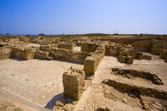 Historic ruins in Paphos. Royalty Free Stock Image