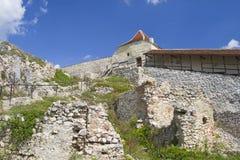 Historic ruins of Rasnov citadel, Romania. Medieval citadel of Rasnov was built between 1211 and 1225 during Teutonic Knights Royalty Free Stock Photos