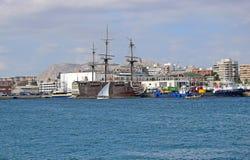 Historic Sailing Boats Volvo Ocean Race Alicante 2017 Stock Photography
