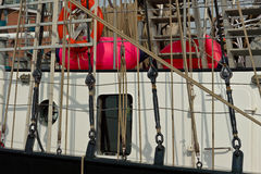 Historic sailing ship in Hamburg port Royalty Free Stock Photo