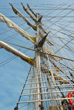 Historic sailing ship in Hamburg port Stock Photography