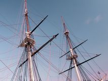 Historic sailing ship masts Stock Photography