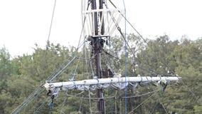 Historic sailing ship stock footage