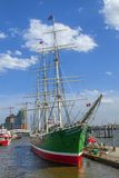 Historic Sailing Ship Rickmer Rickmers in Hamburg Royalty Free Stock Photo