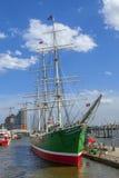Historic Sailing Ship Rickmer Rickmers in Hamburg Royalty Free Stock Photo