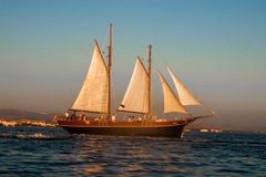 Historic sailing vessel in Adriatic Stock Images