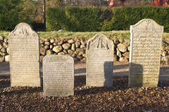 Historic Sailor Tombstones Royalty Free Stock Photos