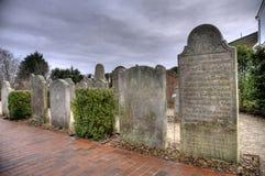 Historic Sailor Tombstones on Amrum Royalty Free Stock Photo