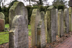 Historic Sailor Tombstones on Amrum Stock Images