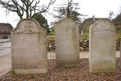 Historic Sailor Tombstones on Amrum Stock Photography