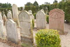 Historic Sailor Tombstones on Amrum Royalty Free Stock Image