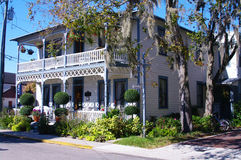 Saint augustine house. Historic saint augustine house in florida Royalty Free Stock Images