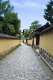 Historic Samurai house street, Kanazawa Japan. royalty free stock photography