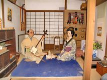 In the historic Samurai village of the Edo Dynasty. Here  recreated the Japanese village of the Middle Ages. Visited place. In the historic Samurai village of stock photography