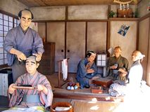 In the historic Samurai village of the Edo Dynasty. Here  recreated the Japanese village of the Middle Ages. Visited place. Of tourists countries of the rising royalty free stock image