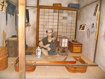 In the historic Samurai village of the Edo Dynasty. Here  recreated the Japanese village of the Middle Ages. Visited place of tourists countries of the rising royalty free stock photo