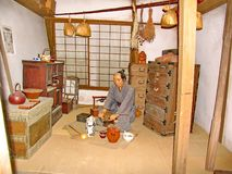 In the historic Samurai village of the Edo Dynasty. Here  recreated the Japanese village of the Middle Ages. Visited place of tourists countries of the rising stock photography