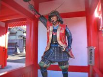 In the historic Samurai village of the Edo Dynasty. Here  recreated the Japanese village of the Middle Ages. Visited place. Of tourists countries of the rising royalty free stock images