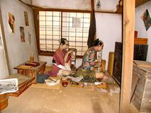 In the historic Samurai village of the Edo Dynasty. Here  recreated the Japanese village of the Middle Ages. Visited place of tourists countries of the rising royalty free stock images