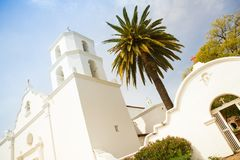 Historic San Luis Rey Mission in Oceanside California Stock Images