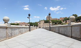 Historic San Martin bridge in Toledo, Spain Stock Photo