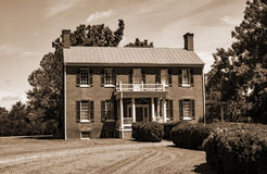 Historic Sandusky House. Lynchburg, VA – August 17th; Historic Sandusky House was built by Charles Johnston Sandusky in 1808. It is one of the unique examples Royalty Free Stock Images