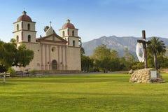 The historic Santa Barbara Mission Stock Photo