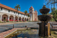 The historic Santa Barbara Spanish Mission in California Royalty Free Stock Image
