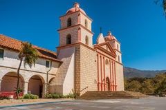 The historic Santa Barbara Spanish Mission in California. USA Royalty Free Stock Images