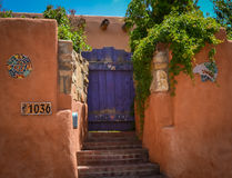 Historic Santa Fe New Mexico Stock Photo