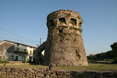 Paestum tower Royalty Free Stock Photography