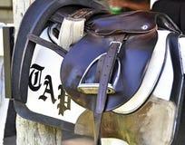 Historic Saratoga - Excercise Saddle stock photo