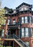Historic Savannah Red Brick House 3 Stock Photo