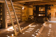 Historic sawmill. Old water-powered sawmill, Slovakia Royalty Free Stock Images