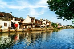 Historic scenic old town Wuzhen, China Royalty Free Stock Photography