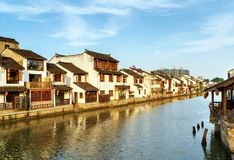Historic scenic old town Wuzhen, China Stock Image