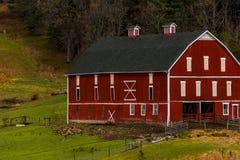 Historic & Scenic Red & White Barn on Appalachian Farm - Autumn Splendor - Somerset County, Pennsylvania. A historic red and white barn on a scenic farm in the royalty free stock photo