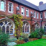 Historic school Radley Oxford England. Gothic architecture at Radley school building oxford in England royalty free stock photo