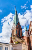 Historic Schwerin Cathedral Royalty Free Stock Image