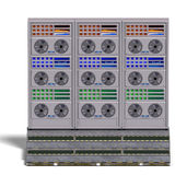 A historic science fiction computer or mainframe. 3D rendering with clipping path and shadow over white vector illustration