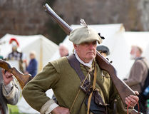 Historic Scottish Rifleman Stock Photo