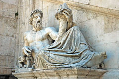 Historic Sculpture. In the Campidoglio, Rome Italy royalty free stock images