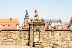 Historic sculpture in Bamberg Stock Photos