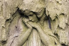 Historic Sculpture from the mystery old Prague Cemetery, Czech Republic. Historic Sculpture from mystery old Prague Cemetery, Czech Republic Stock Image