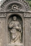 Historic Sculpture from the mystery old Prague Cemetery, Czech Republic. Historic Sculpture from mystery old Prague Cemetery, Czech Republic Stock Photo