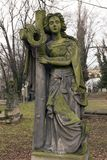 Historic Sculpture from the mystery old Prague Cemetery, Czech Republic. Historic Sculpture from mystery old Prague Cemetery, Czech Republic Royalty Free Stock Photo