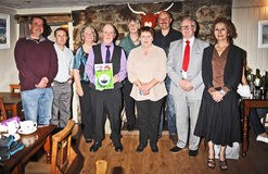 Historic Search Society 25th anniversary. Members of the Highland Historic Search Society at the 25th anniversary dinner of the society, held at Dores Inn, Loch Stock Image