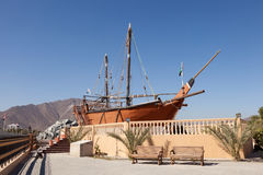 Historic ship in Khor Fakkan, Fujairah Royalty Free Stock Image
