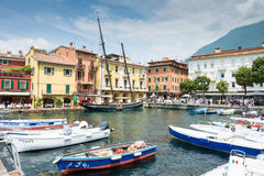 Historic ship in Malcesine Royalty Free Stock Photography